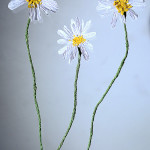 Wildflowers and straws made of paper
